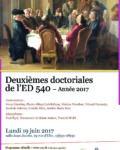 Deuxièmes Journées Doctorales de l'ED 540 –  19 juin 2017