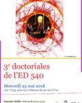 Troisièmes Journées Doctorales de l'ED 540 –  23 mai 2018