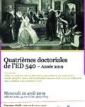 Quatrièmes Journées Doctorales de l'ED 540 – Le 10 avril 2019