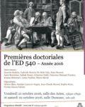 Premières Journées Doctorales de l'ED 540 – 21 et 22 octobre 2016