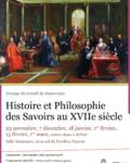 Histoire et Philosophie des Savoirs au XVIIe siècle – 2016-2017